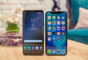 Samsung-Galaxy-S9-vs-Apple-iPhone-X-first-look