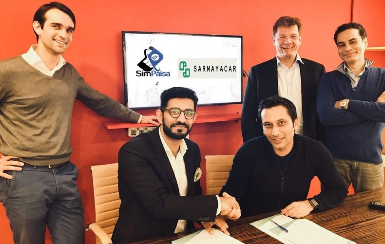 SimPaisa and Sarmayacar Agreement signing