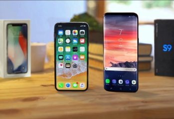 iPhone X Samsung Galaxy S9