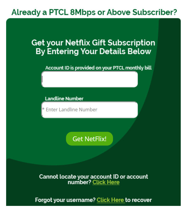 How to avail free Netflix subscription on PTCL Internet Packages
