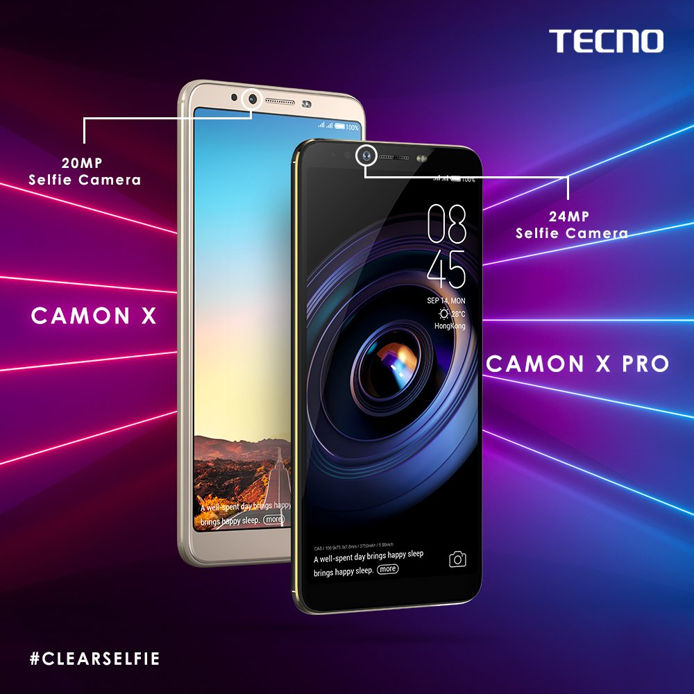 Tecno officially launches camera centric Camon X & Camon X Pro in