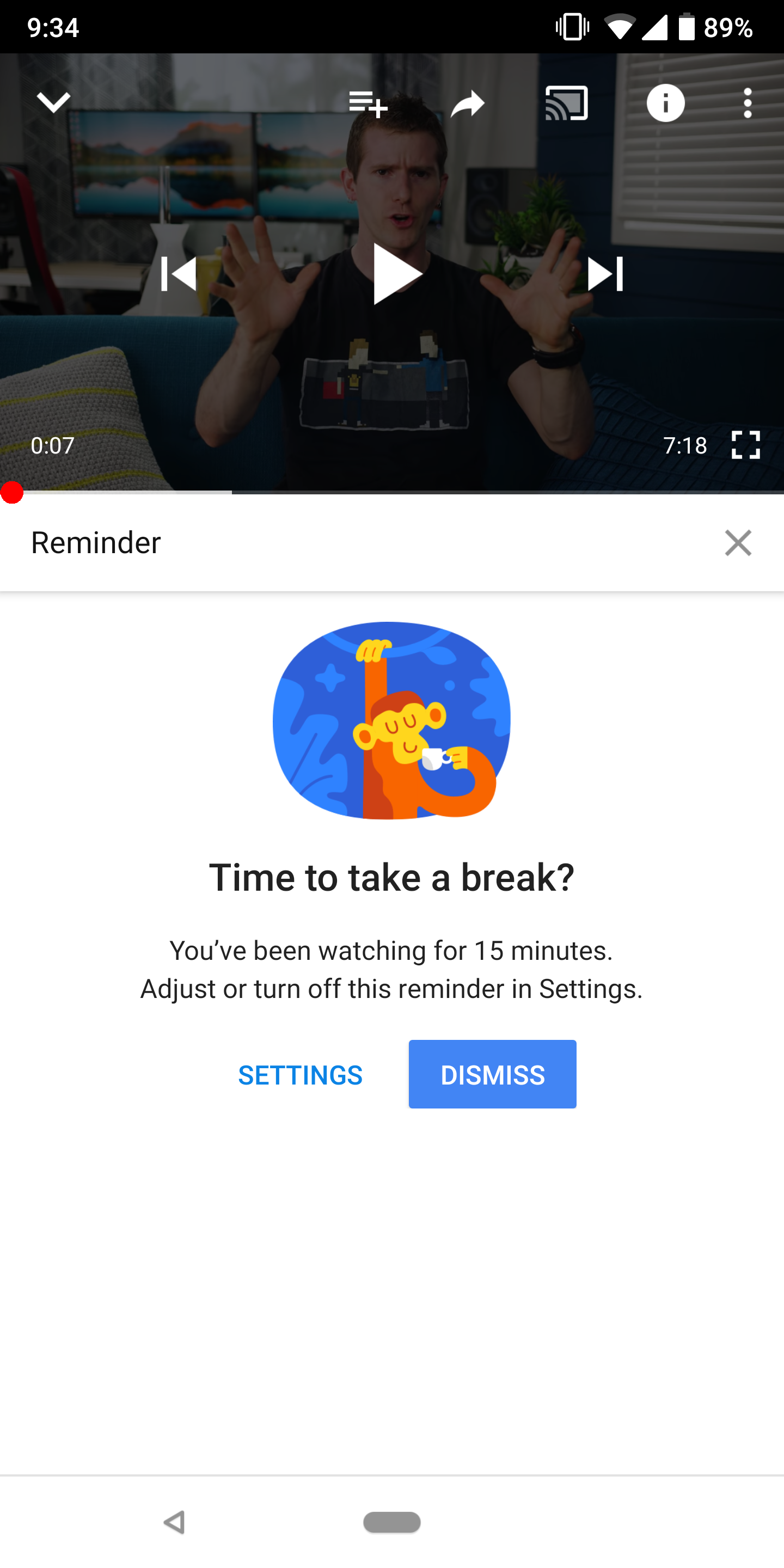Youtube Notification Offers To Resume A Paused Video On: YouTube Now Reminds Users To Stop Spending Too Much Time