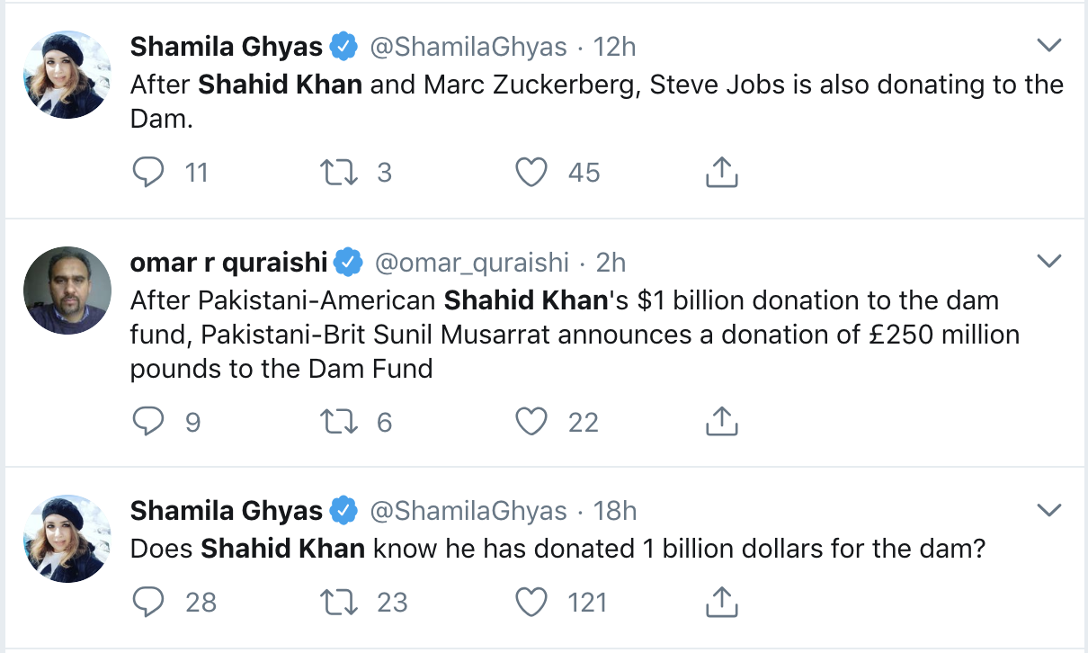 No Shahid Khan is not donating $1 billion for Dam fund in