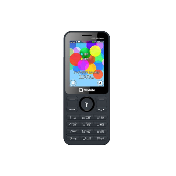 QMobile Feature Phone ECO 200 Dual Sim – 2.4 Display – 1800 mAh Super Battery Mode