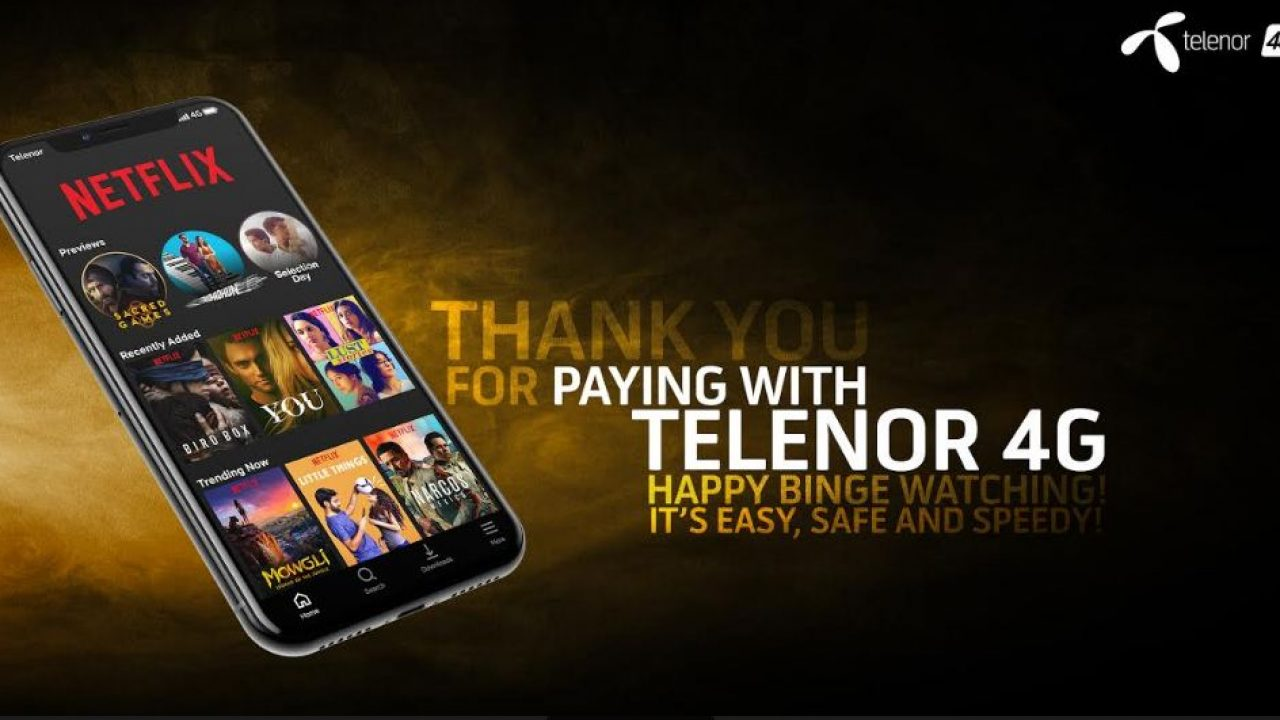 Telenor's customers can now pay for Netflix subscriptions via mobile