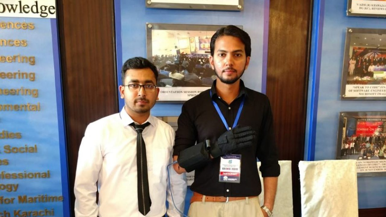 Pakistani students build a glove to help speech impaired people