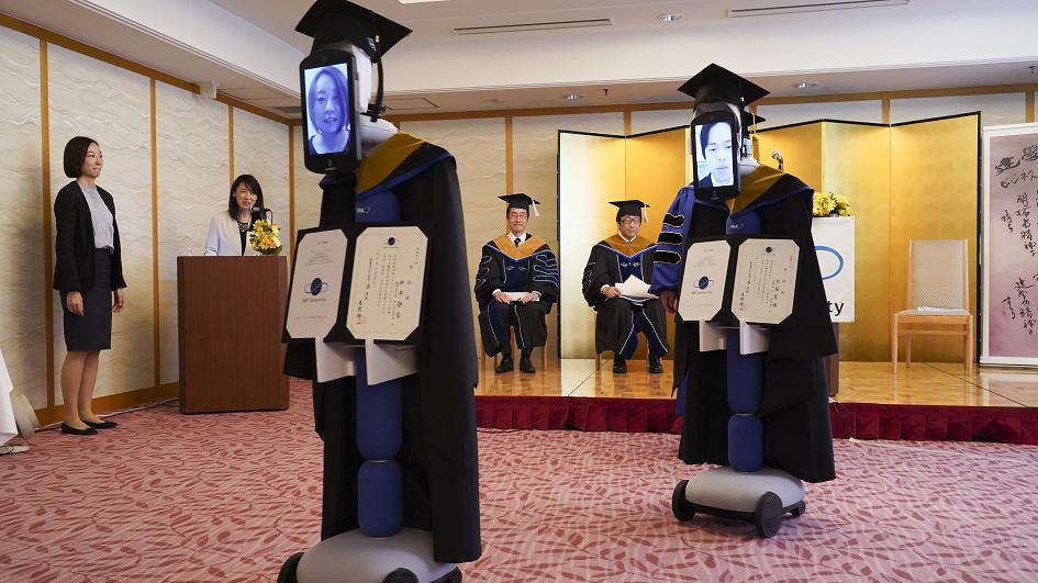 Robots replace Japanese students at graduation ceremony due to ...